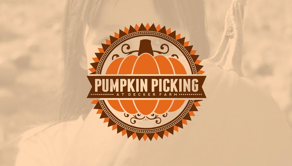 Pumpkin Picking at Decker Farm SATURDAYS & SUNDAYS IN OCTOBER