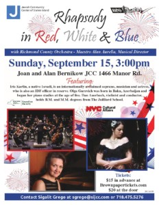 The Richmond County Orchestra Presents: Rhapsody in Red White and Blue 9/15 Staten Island NYC